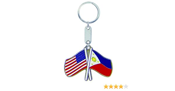 Keychain USA-PHILIPPINES FLAGS