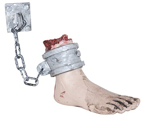 Hanging Bloody Foot with Shackle Halloween (Bloody Foot Hanging Prop)