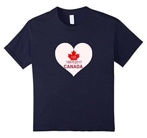 Unisex Child Canada Day 2017   150 Years Birthday Tshirt 4 Navy