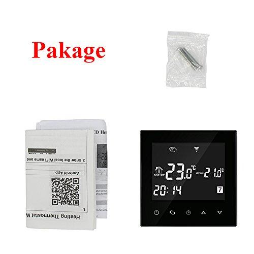 Termostato caldera gas wifi negro pantalla tactil - programador semanal regulador caldera controlador de caldera: Amazon.es: Bricolaje y herramientas