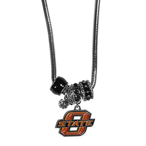 Siskiyou NCAA Oklahoma State Cowboys Euro Bead Necklace, ()
