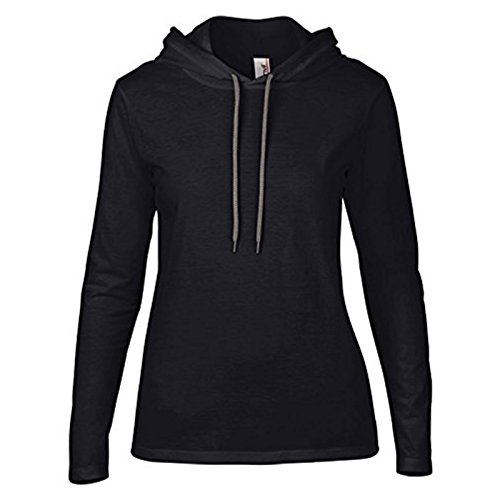 Capuche Grey Dark À Femme Moderne Sweat Anvil Heather Grey EY8qSWw
