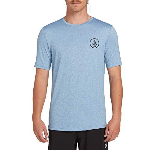 (Volcom Men's Lido Heather Short Sleeve Rashguard, Vintage Blue, Extra Large)