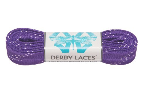 (Derby Laces Purple 84 Inch Waxed Skate Lace for Roller Derby, Hockey and Ice Skates, and Boots)