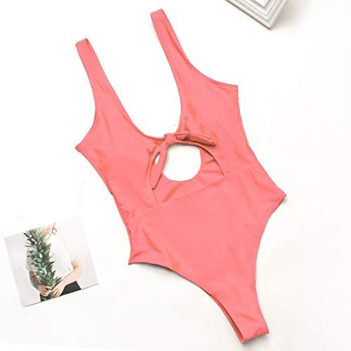 - Tootu Women's Swimsuit High Waisted Swim Ruched Bikini Tankini Briefs Pink