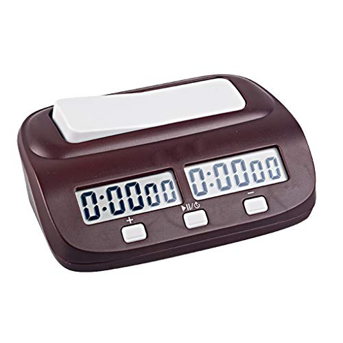 Bomcomi Professional Digital Chess Clock Count Up Down Timer Alarm Function Chess Game Timer Bonus Delay