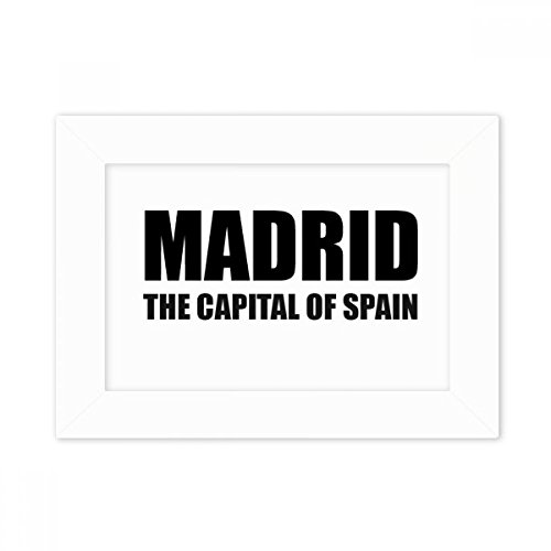 DIYthinker Madrid The Capital Of Spain Desktop Photo Frame White Picture Art Painting 5x7 inch by DIYthinker