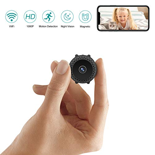 Mini Spy Camera Wireless Hidden with Night Vision HD 1080P Motion Activated Small Hidden Spy Camera Mini Security Camera Nanny Cam with App for Home Office