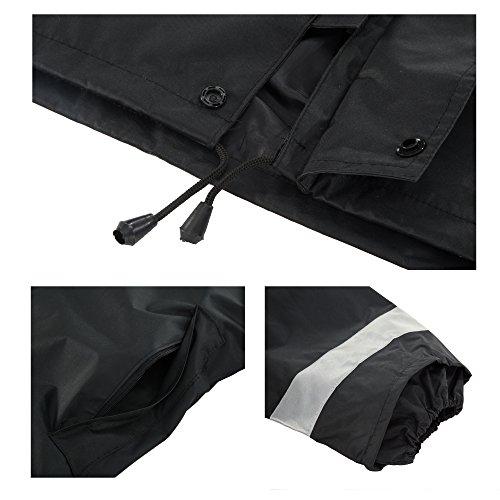Maiyu Motorcycle Rain Suit Waterproof Rain Jacket and Pants Set 2 Piece Rain Gear For Adult by Maiyu (Image #6)