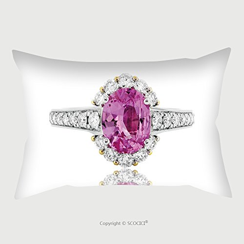 Custom Microfiber Pillowcase Protector Pink Ruby Ring And Diamond In Gold Wedding Jewelry 548761195 Pillow Case Covers Decorative (Ruby Trellis Ring)