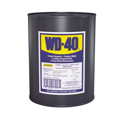WD-40 49012 Open Stock Lubricants, 5 gal, Canister, Light Amber by WD-40