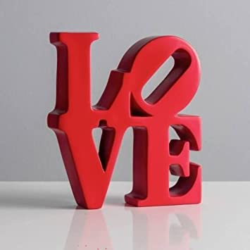 New Red Resin Robert Indiana Love Word Art Decor Sculpture Valentine