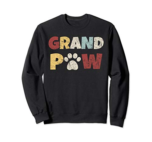 (Retro Grand Paw Dog Lover Grandpaw Grandpa Gift Sweatshirt)