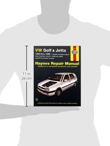 vw golf jetta 1993 thru 1998 haynes repair manual john h haynes rh amazon com Clymer Manuals Saab 99 Haynes Manuals
