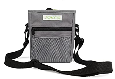 WOVOMO Dog Treat Training Pouch for Dog Training,Hiking and Walking, Carries Pet Toys or Kibble, Built in Poop Bag Dispenser from WOVOMO