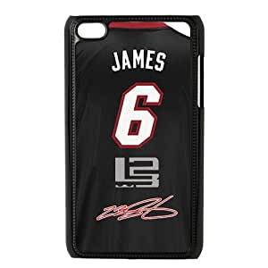 Luckhappy NBA Miami Heat LeBron James jeraey Black Plastic case - fits IPod Touch 4th cover