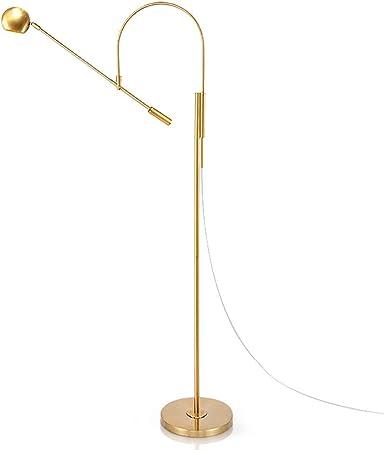 Lámpara De Pie De Oro Pesca De Altura, La Luz De Pie De Estilo Moderno Salón