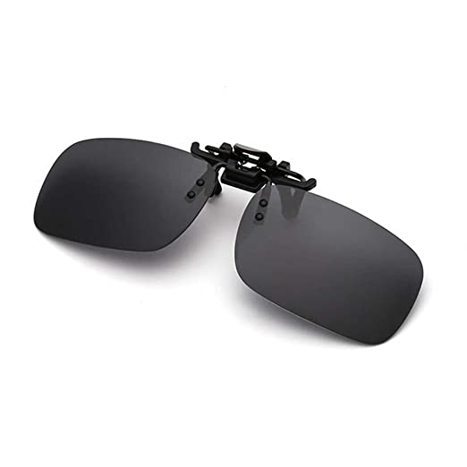 d36c4b46d1f65c Polarized Clip on Sunglasses for Men Flip Up Anti-Glare UV 400 Clip on  Sunglasses