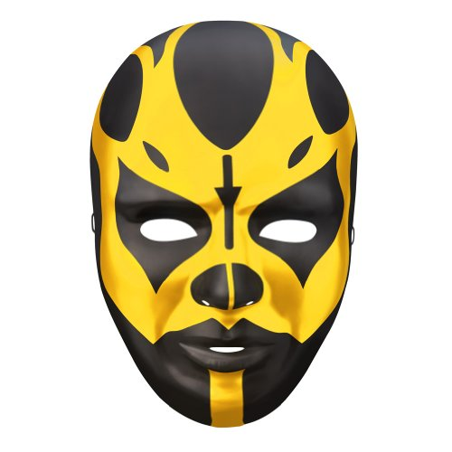 [Goldust Black Gold Plastic Halloween Party WWE Mask] (Wwe Wrestling Costumes For Adults)