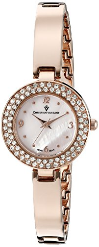 Christian Van Sant Women's CV8614 Palisades Analog Display Quartz Rose Gold Watch