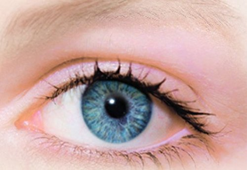 Farbige Kontaktlinsen Jahreslinsen blau hellblau gute Deckkraft ohne Stärke mit Aufbewahrungsbehälter