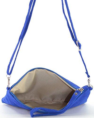 histoireDaccessoires - Clutch de Cuero de Mujer - PO129721V-OE-Helios Azul