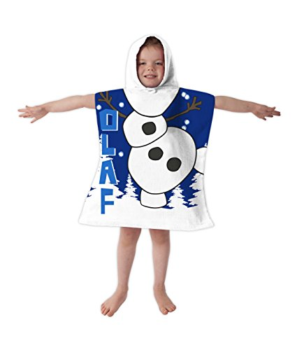 Disney Olaf de Frozen Poncho con capucha toalla dress up impreso campana: Amazon.es: Hogar