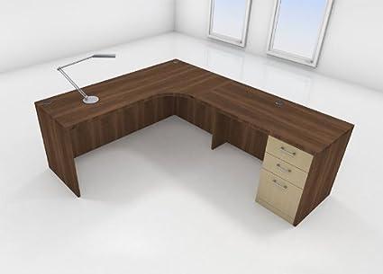 3pc L Shape Modern Executive Office Desk Set, #CH AMT L30