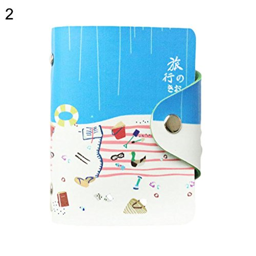 Purse Portable Storage Slots 8 1 ID Card Wallet Credit Faux Holder Pocket Leather Hearsbeauty qPBztz