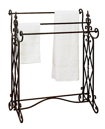 Deco 79 Metal Towel Rack, 36 by 27-Inch