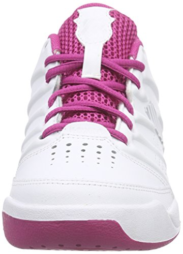 K-Swiss Performance ULTRASCENDOR OMNI JR - Zapatillas de tenis Niñas Blanco - Weiß (WHITE/VERYBERRY/SILVER)