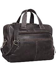 STILORD 'Lias' torba na ramię skóra męska vintage 15,6 cala torba biznesowa torba na laptopa duża praca biuro skóra antyk