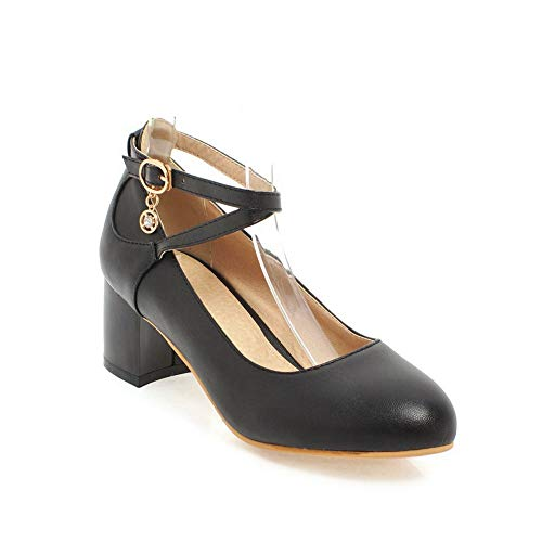 Ballroom APL10540 Shoes Urethane Casual Womens Solid Black Pumps Dance BalaMasa E0pq8n