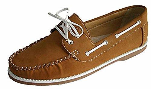 Peau 8 À Faux Cuir Chaussures Enfiler Femmes Bateau Tailles 4 Nubuck Mocassins Coolers x7qPZxCwS
