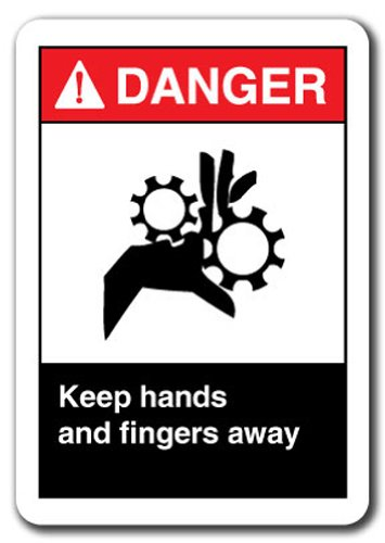 (Danger Sign - Keep Hands and Fingers Away 7