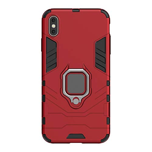 Reader Digital Book Cover - Wenjuan Phone Case,Protective 360 Degree Rotate Magnetic Ring Holder TPU Case Cover 6.1Inch\6.5Inch\5.8 Inch for iPhone XR\ XS Max\XS (for iPhone XS 5.8 inch, Red)