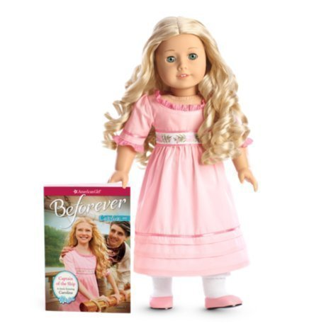 American Girl Caroline with BONUS Holiday Dress American Girl Floral Dress