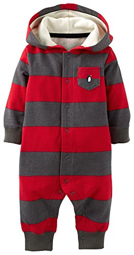 Carters Penguin Hooded Jumpsuit Month