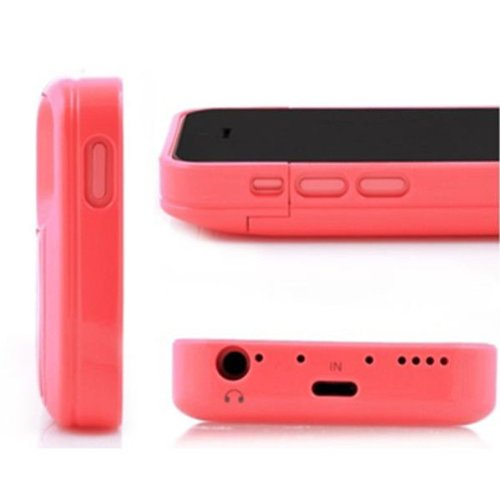 G4GADGET® 2200mah Power External Battery Pink Case for Iphone 5/5S/5C