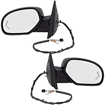 Chevy GMC Cadillac Pickup Truck Set Side View Power Mirrors Heated Puddle Lamp