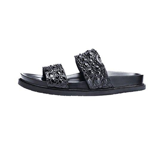 All'aperto Moda Antiscivolo Comodo Pantofole NIUMJ Casuale Traspirante Estate Spiaggia Black Maschi SnHwYq1