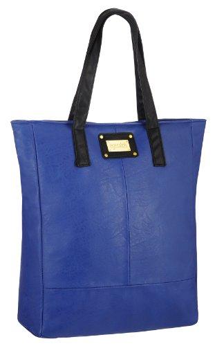 Eyecatchbags Leather Faux Royal Maribel Blue Tote Handbag Shoulderbag Womens Mustard qrqCSca6