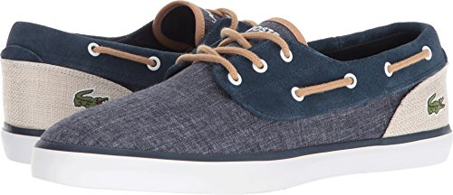 Lacoste Men's Jouer Deck Sneaker Navy/Natural clearance sneakernews latest collections online outlet store online Osh1smx