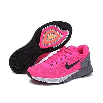 Nike Women s Lunarglide 6 Hyper Pink Black Pr Pltnm Cl Gry Running Shoe 105cb7ebbd17