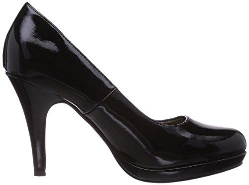 Tamaris 22417 - zapatos de tacón cerrados de material sintético mujer negro - Schwarz (Black Patent 018)
