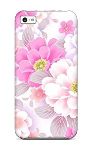 New Style Hot Tpye Flower Case Cover For Iphone 5c