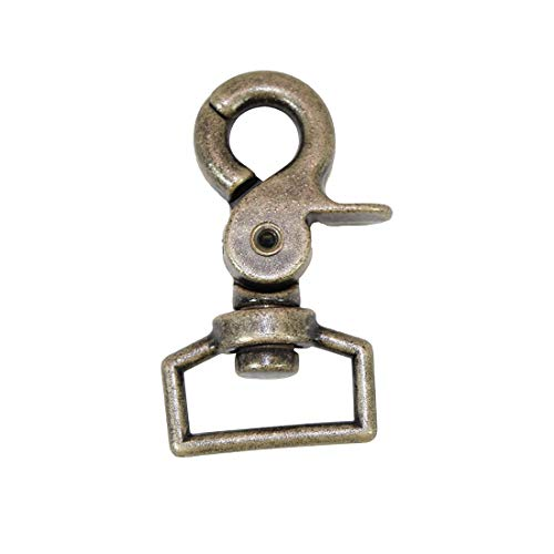"Hide & Drink, 1.18"" (30mm) Lobster Circular Clasp Hook w/Pin Rustic Nickel for Keychain, Bags, FOB & Accessories Replacement/Leather Crafts, Tooling, Hobby & Workshop Essentials"