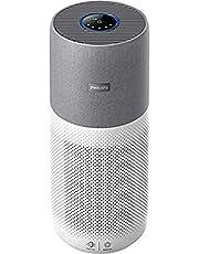 Philips AC4236/10 luchtreiniger Conncted 4000I (voor mensen met allergieën en rokers, tot 130 M2, Cadr 500M3/H, aerasense-sensor, met app-bediening) wit/grijs