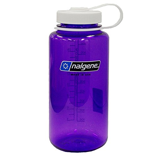 Nalgene Tritan Wide Mouth BPA-Free Water Bottle, 32 Oz, Purple W White by Nalgene