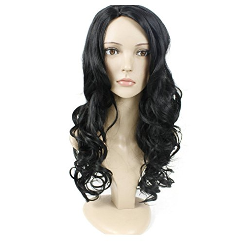 Longlove Long Black Curly Synthetic Lace Front Wig For Women (Halloween Stores In Baton Rouge)